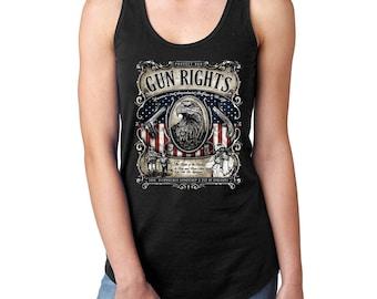 Protect our Gun Rights 2nd Amendment Lightweight Racerback Tank Top