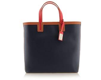 Dark Blue Shopper Bag