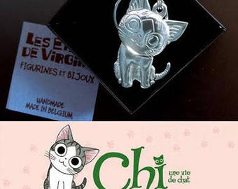 "Great key fob ""Chi, cat's life"" ""Solid pewter"""