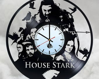 Game of Thrones House Stark Vinyl Record Wall Clock