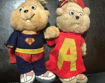 Vintage Plush Alvin and Super Alvin and the Chipmunks Stuffed Animal