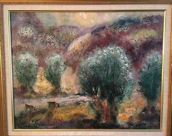 "Original Albert Goldman Painting ""Jerusalem"""
