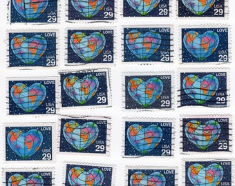 Global Love Stamps - Used - Off Paper - 1991 - 20 Stamps - Scott 2535