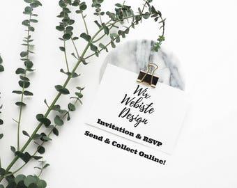 Wedding Invitation and RSVP | Editable Wedding Website Template | DIY Website