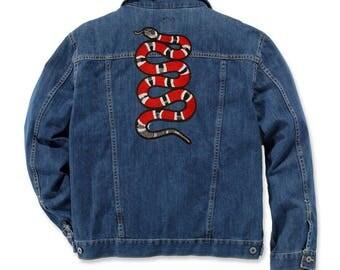Snake Patch Jean Jacket Patch Iron On Patch