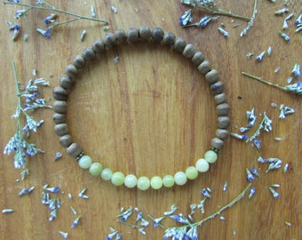 Lemon Jade and Agarwood Healing Stone Bracelet