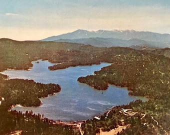 Vintage Postcard of Aerial View of Lake Arrowhead