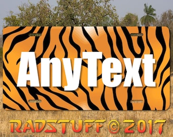 Tiger Stripe Customized Your Text Personalized Vanity License Plate Tag New