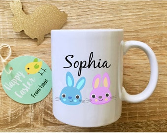 Easter mug with name cute easter gifts for kids easter gift easter mug with name cute easter gifts for kids childrens easter gift unique mugs easter keepsake negle Images
