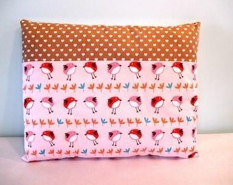 NAP pillow 'Birds whispering' (dim: 30x38cm)