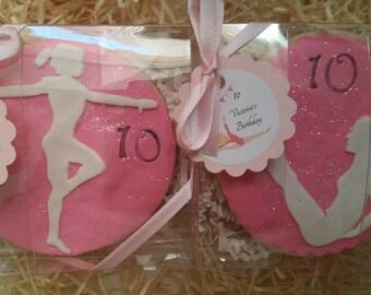 Gymnastics cookies,gymnasitics sugar cookies ,gift favores gymnastics,
