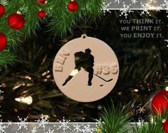 Custom Hockey Ornaments