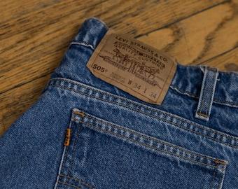 Vintage 70's Levi's 505 Orange Tab