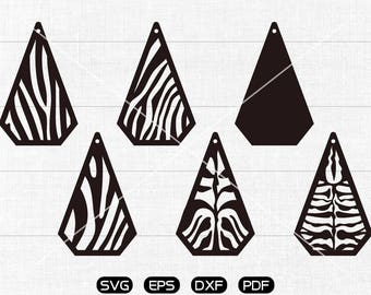 Diamond SVG, Diamond Teardrop svg, leather jewelry making Clipart, cricut, silhouette cut files commercial use
