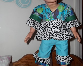 """18"""" doll """"Mod"""" outfit with ball"""