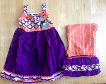 Clemson Top with Ruffle Pants