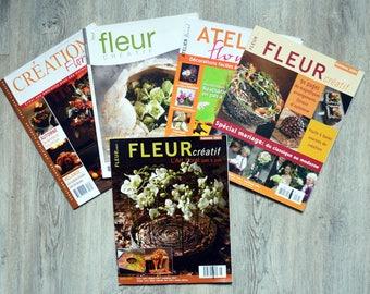 Set of 5 floral art magazines