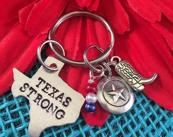 Texas Strong Keychain