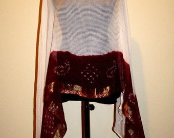 Radha: Indian saree poncho