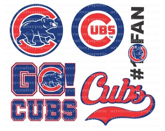 INSTANT DOWNLOAD - Chicago Cubs Svg Files, Svg Files for Cricut, Svg Christmas, Svg Files for Silhouette, Svg Bundle, Svg Designs