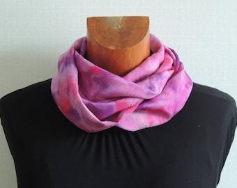 Purple Snood pattern Kea embroided silk