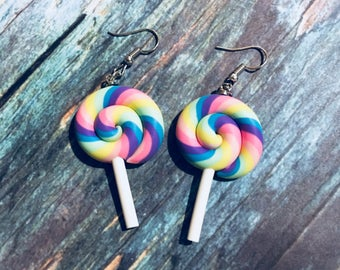 Lolipop Earrings Rainbow