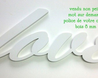 Word wood clear 8 mm custom quote request