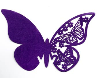 Butterfly brand placed by 10 1365 - purple paper
