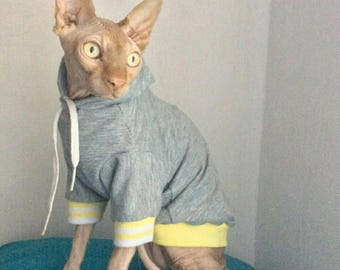 Comfortable Sphynx Hoddie,Sphynx Cat Hoddie, Gifts for Pets, Costumes for Pets, Cat Sweater, Cat T-shirt, Sphynx Shirt, Cat Clothes.