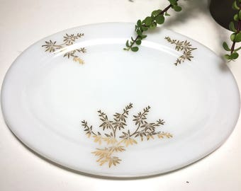 Vintage Federal Glass Gold Platter