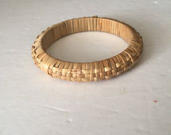 Vintage Wicker Bangle Bracelet