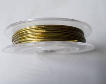 x 1 coil 10 meters of copper to create 0.45 mm color steel wire