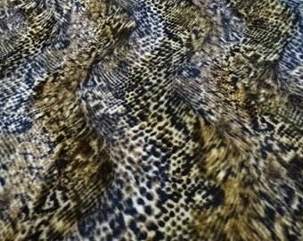 """Fabric """"velboa"""" animal pattern snake skin imitation"""