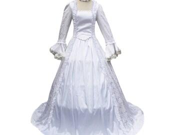 Gorgeous Victorian Georgian Gown And Choker Renaissance Faire Medieval Tudor Princess Dress Vintage Edwardian Vampire Halloween Costume