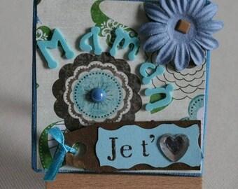 Mini canvas and easel I love you MOM