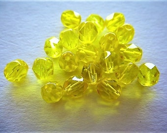Crystal beads Bohemian faceted 6 mm Pack of 20 for creations of jewels