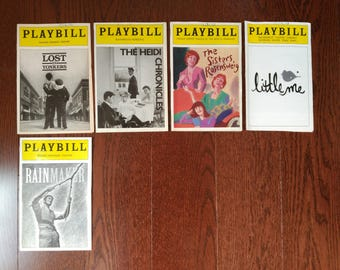 Playbill w/ Original Cast 1980s - 1990s - Lost in Yonkers The Heidui Chronicles The Sisters Rosensweig Little Me The Rainmaker