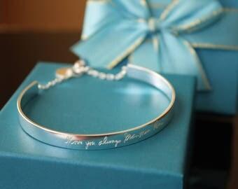 Personalized Statement Bracelet - Custom Statement Bracelet - Gift for her