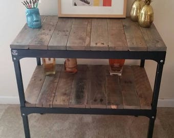 Reclaimed Wood Bar Cart