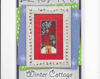 Lizzie*Kate Winter Cottage Punch Needle Pattern