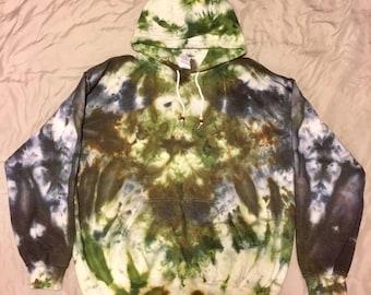 Unisex Large Ice Dyed Hoodie