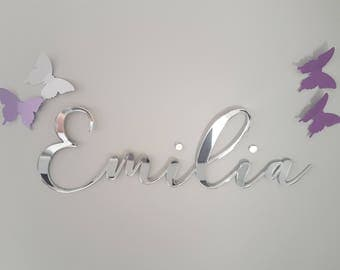 Small Custom Name Sign  | Laser cut name sign | Personalised name sign | Kids door sign | Wall sign | Nursery wall sign |