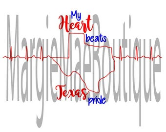 My heart beats Texas Pride Digital Download