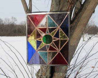 Stained Glass Panel. Stained Glass Sun-catcher. Stained Glass Art