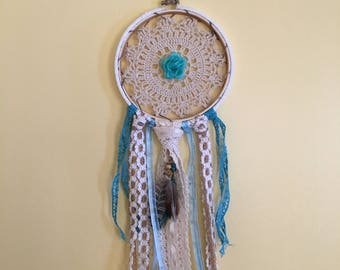 Blue Rose Dreamcatcher