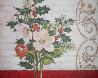 "051 ""Christmas theme"" napkin"