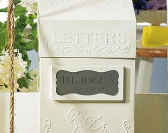 Wedding Card Mailbox Antique Vintage Style Letter Box Metal Wishing Well - Guest Book Alternative - Can Be Personalized Engraved - MW15137