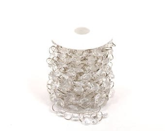 "Acrylic Crystal Circles Garland 1/2"" - Clear"