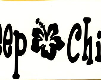 Jeep Chick!* Jeep Vinyl Decal