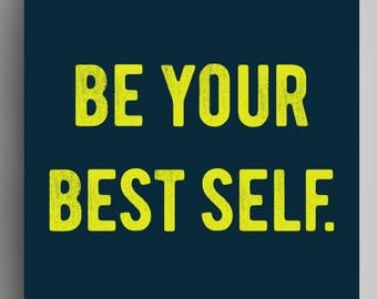 Be Your Best Self - Poster - Navy